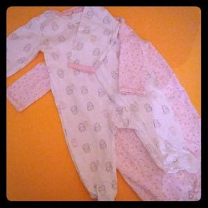 JUST ONE YOU BABY FOOTIE & GOWN made by CARTER'S
